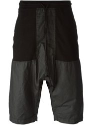 Lost And Found Panelled Track Shorts Black