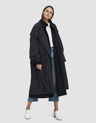 Nehera Cucma Layered Trench Coat Black
