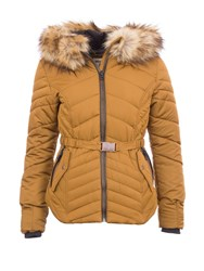 Garcia Quilted Jacket With Hood Brown