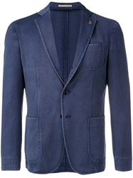 Paoloni Single Breasted Blazer Blue
