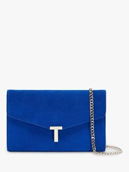 Ted Baker Jakiee Leather Clutch Bag Bright Blue