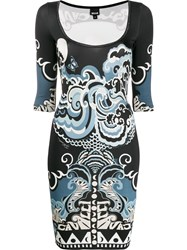 Just Cavalli Abstract Print Fitted Dress 60
