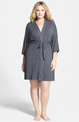 Dkny 'Urban Essentials' Robe Plus Size Heather Charcoal