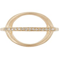Jennie Kwon Women's Pave Diamond And Gold Ring No Color