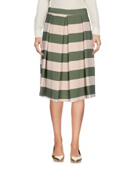 Biancoghiaccio Knee Length Skirts Military Green