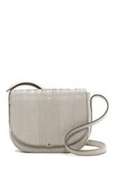 Brian Atwood Saylor Leather Crossbody Gray
