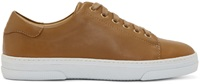 A.P.C. Tan Leather Steffi Tennis Sneakers
