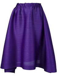 Issey Miyake Pleats Please By Pleated Draped Skirt Women Polyester 3 Pink Purple