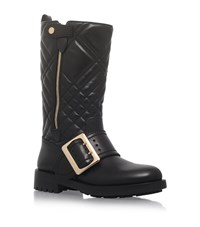 Burberry Quilted Buckle Detail Boots Female Black