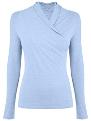Manuka Solstice Asymmetrical Long Sleeve Yoga T Shirt Blue