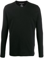 Majestic Filatures Long Sleeve Slim Fit T Shirt Black