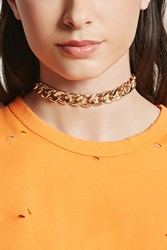 Forever 21 Curb Chain Choker Gold