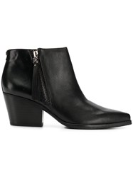 Sam Edelman Pointed Toe Ankle Boots Black
