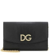 Dolce And Gabbana Leather Clutch Black