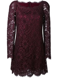Dolce And Gabbana Floral Lace Mini Dress Pink And Purple