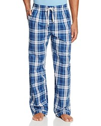Psycho Bunny Woven Lounge Pants Navy White Plaid