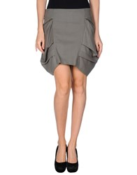 Cora Groppo Mini Skirts Grey