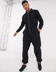 Liquor N Poker Boiler Suit In Black