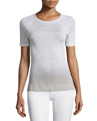 Theory Toraely Sag Harbor Ombre Sweater Wht Natural Linen