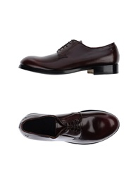 Raparo Lace Up Shoes Maroon