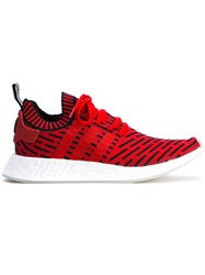 Adidas Originals Nmd R2 Primeknit Trainers Unisex Cotton Leather Polyurethane Rubber 8.5 Red