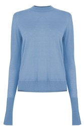 Warehouse Boxy Crew Jumper Light Blue