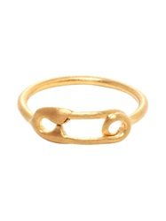 Maria Black Safety Pin Gold Plated Ring
