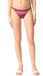 Minkpink Mandala Wonder Embroidered Bikini Bottoms Berry White