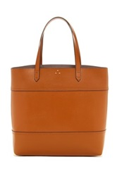 Kelsi Dagger Commuter Leather Tote Brown