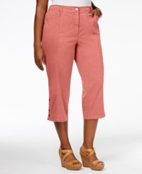 Jm Collection Plus Size Cropped Pants Only At Macy's Seashell Peach