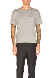 Thom Browne Jersey Cotton Short Sleeve Pocket Tee In Gray