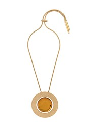 Marni Disc Necklace Gold