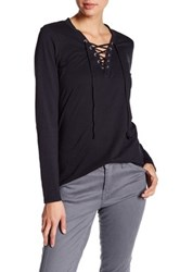 Joe's Jeans Amora Lace Up Tee Black