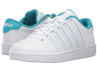 K Swiss Court Pro Ii Sp Cmf White Peacock Blue Women's Lace Up Casual Shoes