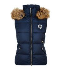 Juicy Couture Fur Trim Puffer Gilet Female