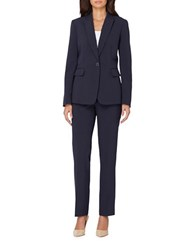 Tahari By Arthur S. Levine Classic Fit Pinstripe Suit Navy