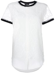 Twin Set Lace Details T Shirt White
