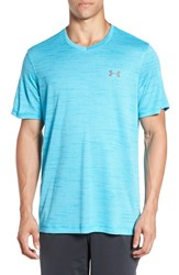 Under Armour Men's 'Ua Tech' Loose Fit Short Sleeve V Neck T Shirt Meridia Blue