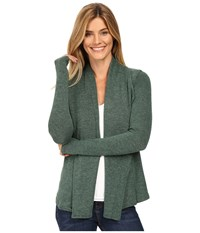 Mod O Doc So..Soft Sweater Knit Seamed Cardigan Cypress Women's Sweater Green
