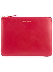 Comme Des Garcons Wallet Logo Print Purse Unisex Leather One Size Red