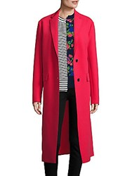 Peserico Solid Long Sleeve Coat Red