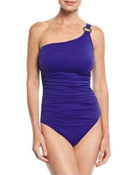 Magicsuit Janie One Shoulder Solid One Piece Swimsuit Blue