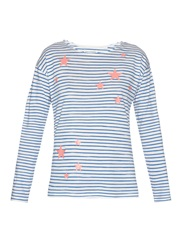 Chinti And Parker Star Print Striped Jersey T Shirt