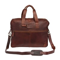 Mahi Leather Classic Holdall Weekend Overnight Bag In Vintage Brown