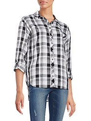 Kensie Relaxed Fit Plaid Shirt Grey Mist