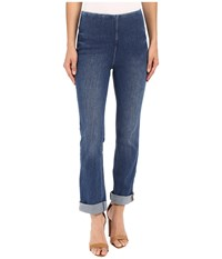 Lysse Rolled Cuff Boyfriend Denim Mid Wash Women's Jeans Blue