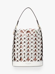 Kate Spade New York Dorie Leather Small Bucket Bag White