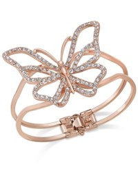 Thalia Sodi Rose Gold Tone Pave Butterfly Hinged Bracelet Only At Macy's