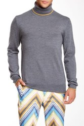 Mr Turk Solid Merino Wool Turtleneck Sweater Gray
