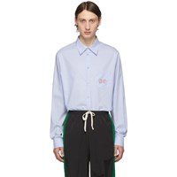 Gucci Blue Gg Oxford Shirt